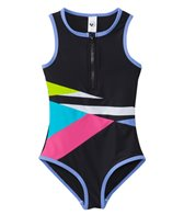 Limeapple Swimwear Girls' Paradise Colorblock One Piece Swimsuit (4yrs-16yrs)