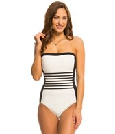 DKNY A Lister Bandeau One Piece Swimsuit