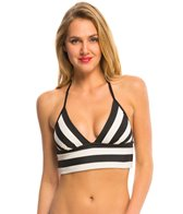 DKNY Iconic Stripe Triangle Bralette Halter Top