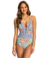 Nanette Lepore Greek Tiles Goddess One Piece Swimsuit