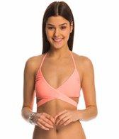 Quintsoul Swimwear Solid Essentials Wrap Halter Bikini Top