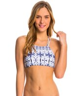 Quintsoul Swimwear Ink & Water High Neck Crop Bikini Top