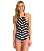 Quintsoul Behind Bars High Neck One Piece Swimsuit