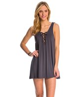 Lucy Love Signature Knits Lace Me Up Shift Dress