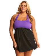 Delta Burke Plus Size Halter Swimdress
