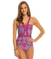 Laundry By Shelli Segal Swimwear Pretty Partridge Cut Out One Piece Swimsuit