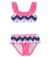 Hula Star Girls' Whale Two Piece Bikini Set (2T-6X)