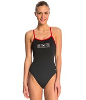 Dolfin Lifeguard Varsity Solid One Piece Swimsuit