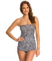 Ceeb Rattan Bandeau Sarong One Piece Swimsuit