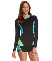 Tommy Hilfiger Swimwear Scuba Colorblock L/S Rashguard Top