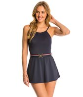Tommy Hilfiger Signature Solids High Neck Swim Dress