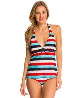 Tommy Hilfiger Swimwear Slide Stripe Halter Tankini Top