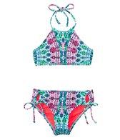 Hobie Girls' Mazatlan Medallion High Neck Top & Adjustable Hipster Set (7-14)