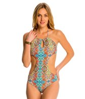 Peixoto Swimwear Mosaic Beach Tamarin Full One Piece Swimsuit