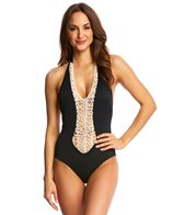 Peixoto Swimear Maku Crochet Full One Piece Swimsuit