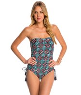 Michael Kors Swimwear Nui Side Inset One Piece Swimsuit