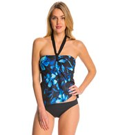 Carmen Marc Valvo Caribbean Breeze Katharine Sweet Heart Pleated Bandeau Tankini Top