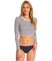 Vince Camuto Shore Side Crop Long Sleeve Rashguard