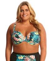 Sunsets Plus Size Tropical Oasis Convertible Retro Halter Bikini Top (D/DD-Cup)