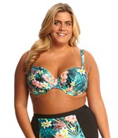 Sunsets Plus Size Tropical Oasis Convertible Retro Halter Bikini Top (E/F-Cup)
