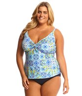 Sunsets Plus Size Seville Underwire Twist Tankini Top (D/DD Cup)