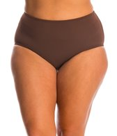 Sunsets Plus Size Solid High Waist Bikini Bottom