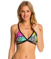 Trina Turk Swimwear Balboa Faux-Wrap Bra Bikini Top