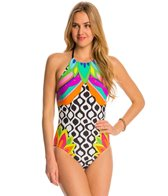 Trina Turk Swimwear Balboa High-Neck One Piece Swimsuit