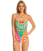 Trina Turk Swimwear Tamarindo Bandeau One Piece Swimsuit
