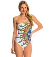 Trina Turk Swimwear Kasbah Bandeau One Piece Swimsuit