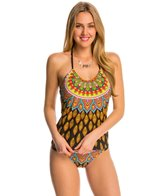 Trina Turk Swimwear Moroccan Medallion Halter Tankini Top