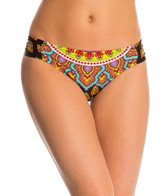 Trina Turk Swimwear Moroccan Medallion Side Shirred Hipster Bikini Bottom