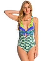Trina Turk Swimwear Shangri La Crossback One Piece Swimsuit