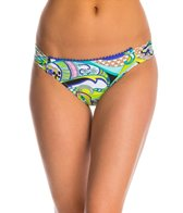 Trina Turk Swimwear Nomad Paisley Shirred Side Hipster Bikini Bottom