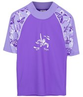 Tuga Girls' UPF 50+ Turtle Paradise Off Shore S/S Rash Guard (2yrs-14yrs)