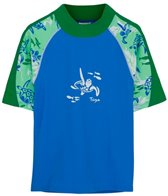 Tuga Boys' UPF 50+ Turtle Paradise Off Shore S/S Rash Guard (2yrs-14yrs)