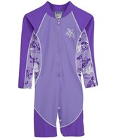 Tuga Infant Girls' UPF 50+ Turtle Paradise High Tide L/S One Piece Sun Suit (3mos-18mos)