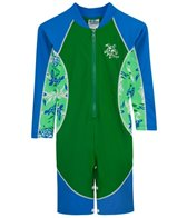 Tuga Infant Boys' UPF 50+ Turtle Paradise High Tide L/S One Piece Sun Suit (3mos-18mos)