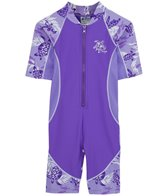Tuga Girls' UPF 50+ Turtle Paradise Low Tide S/S One Piece Sun Suit  (2yrs-6yrs)