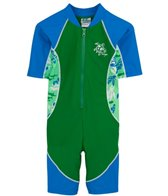 Tuga Infant Boys' UPF 50+ Turtle Paradise Low Tide S/S One Piece Sun Suit (3mos-18mos)
