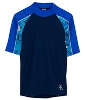 Tuga Boys' UPF 50+ Thresher Frenzy Breaker S/S Rash Guard (2yrs-14yrs)