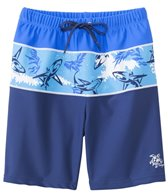 Tuga Boys' UPF 50+ Thresher Frenzy South Swell Board Short (2yrs-14yrs)