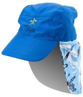 Tuga Boys' Turtle Paradise UPF 50+ Flap Hat