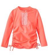 Cabana Life Girls' UPF 50+ Essentials Embroidered Rashguard (7-14yrs)
