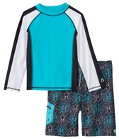 Cabana Life Boys' UPF 50+ Water Octopus Swim Shorts & Rashguard Set (2T-7yrs)