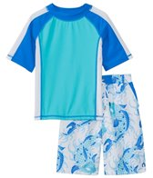 Cabana Life Boys' UPF 50+ Koi Fish Swim Shorts & Rashguard Set (8-14 yrs)