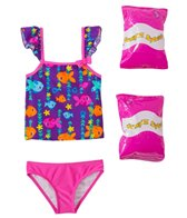 Jump N Splash Toddler Girl's Fab Fish Two-Piece Swimsuit w/ Free Floaties (2T-3T)