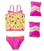 Jump N Splash Toddler Girls' Little Ladybug Two-Piece Swimsuit w/ Free Floaties (2T-3T)