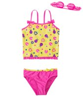 Jump N Splash Girls' Little Ladybug Two-Piece Swimsuit w/ Free Goggles (4-6X)