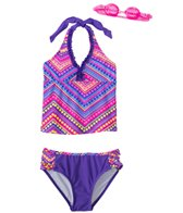 Jump N Splash Girls' Boho Two-Piece Swimsuit w/ Free Goggles (7yrs-14yrs)